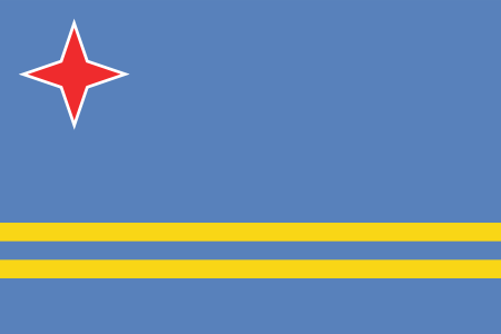 Aruba Official Flag