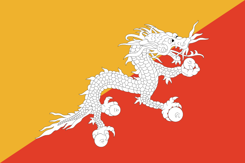 Bhutan Official Flag