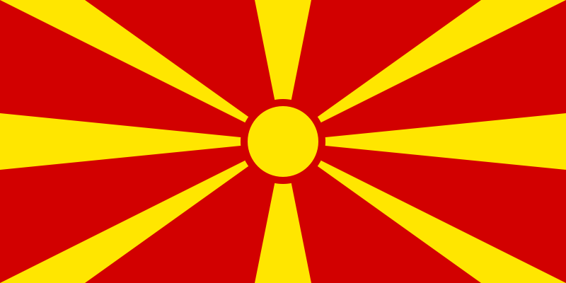 Macedonia Official Flag