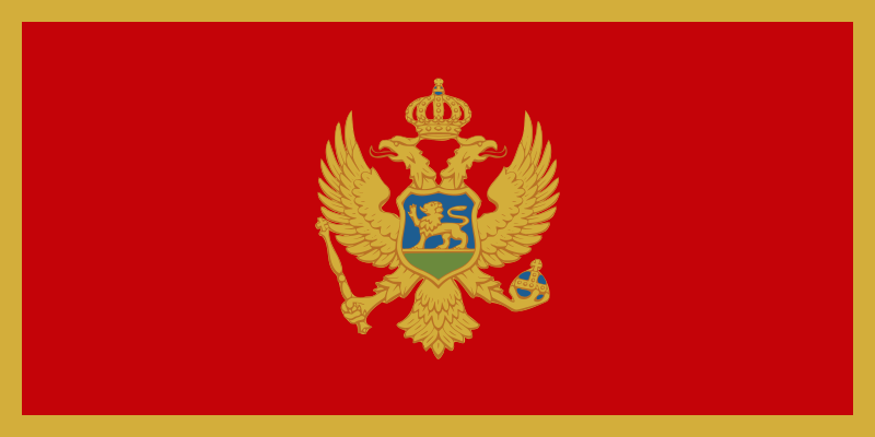 Montenegro Official Flag