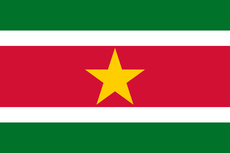 Suriname Official Flag