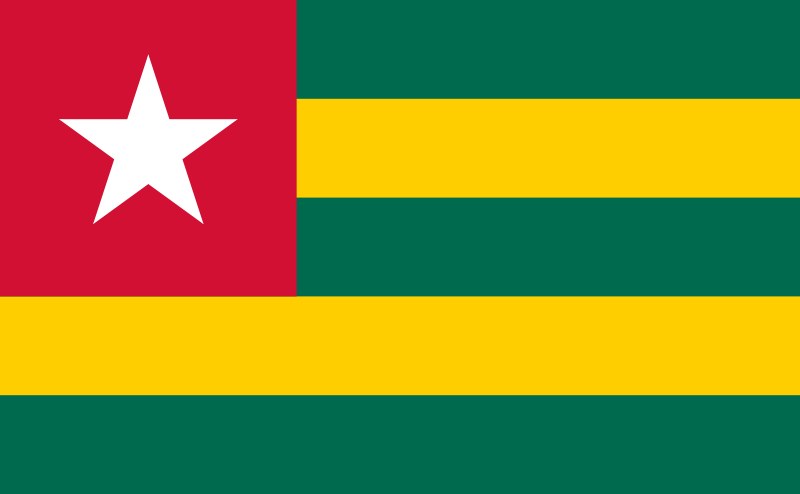Togo Official Flag