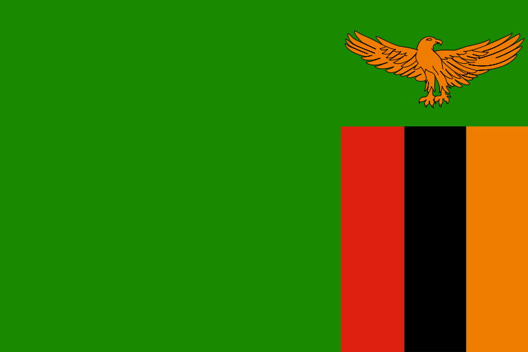 Zambia Official Flag